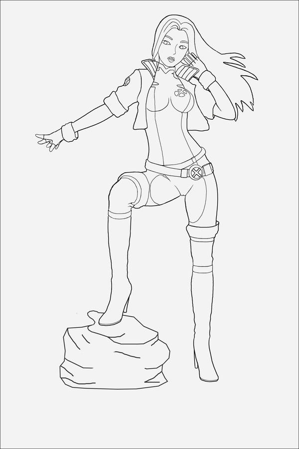 rogue x men coloring pages - photo#46