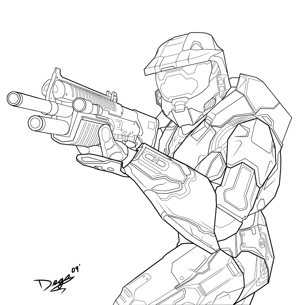 Halo masterchief charity 1 by theumbris on deviantart for Halo coloring pages