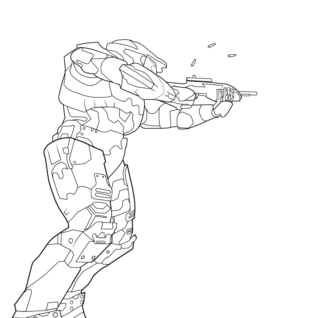 Halo masterchief charity line2 by theumbris on deviantart for Halo master chief coloring pages