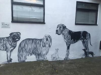 Dog mural by Sarahlara23