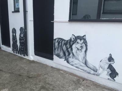 Dog wall mural by Sarahlara23