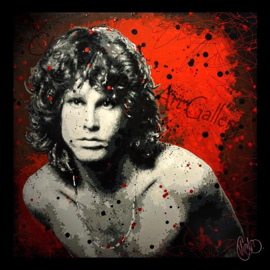 Jim Morrison Pop Art By Chantellaviala