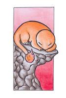 Sleeping Charmander.:colour:. by Fluna
