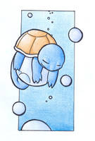 Sleeping Squirtle .:colour:. by Fluna