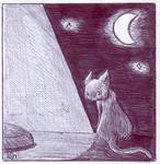 PEN - Black Night Cat