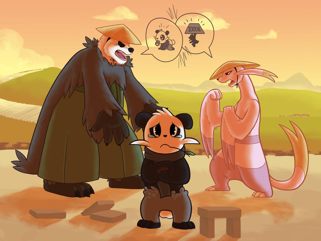 Commission - Kung-fu fam by Fluna
