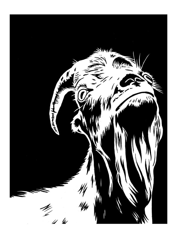 School - Goat posterization by Fluna