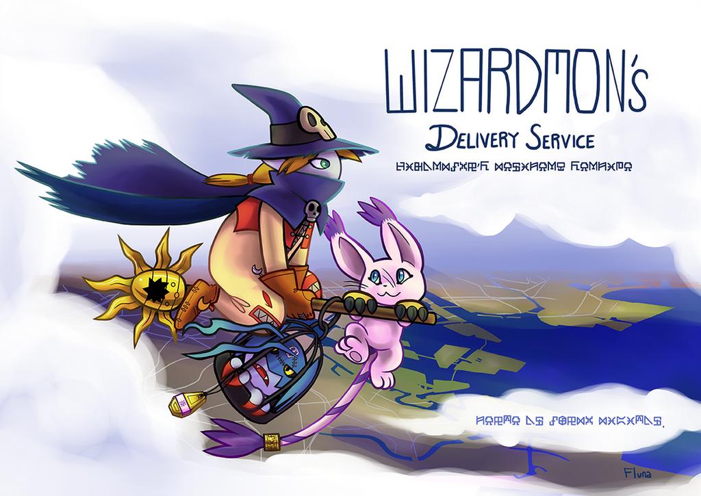 Wizardmon's Delivery Service by Fluna