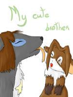 My cute brother by Fluna