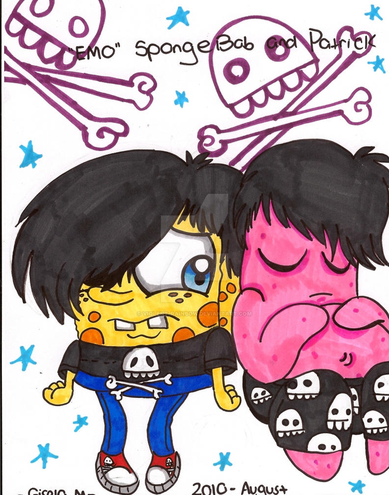 Emo Spongebob And Patrick By Violent Rainbow On Deviantart