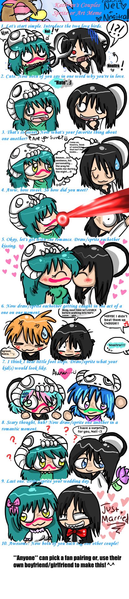 Bleach: Nel X Nnoitra Romance Meme by Violent-Rainbow