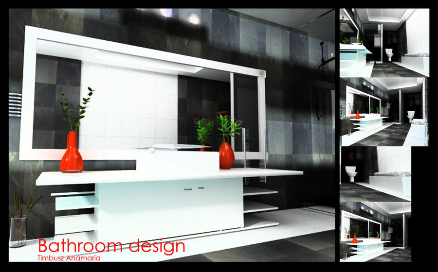 3d Bathroom Design By Anna1984