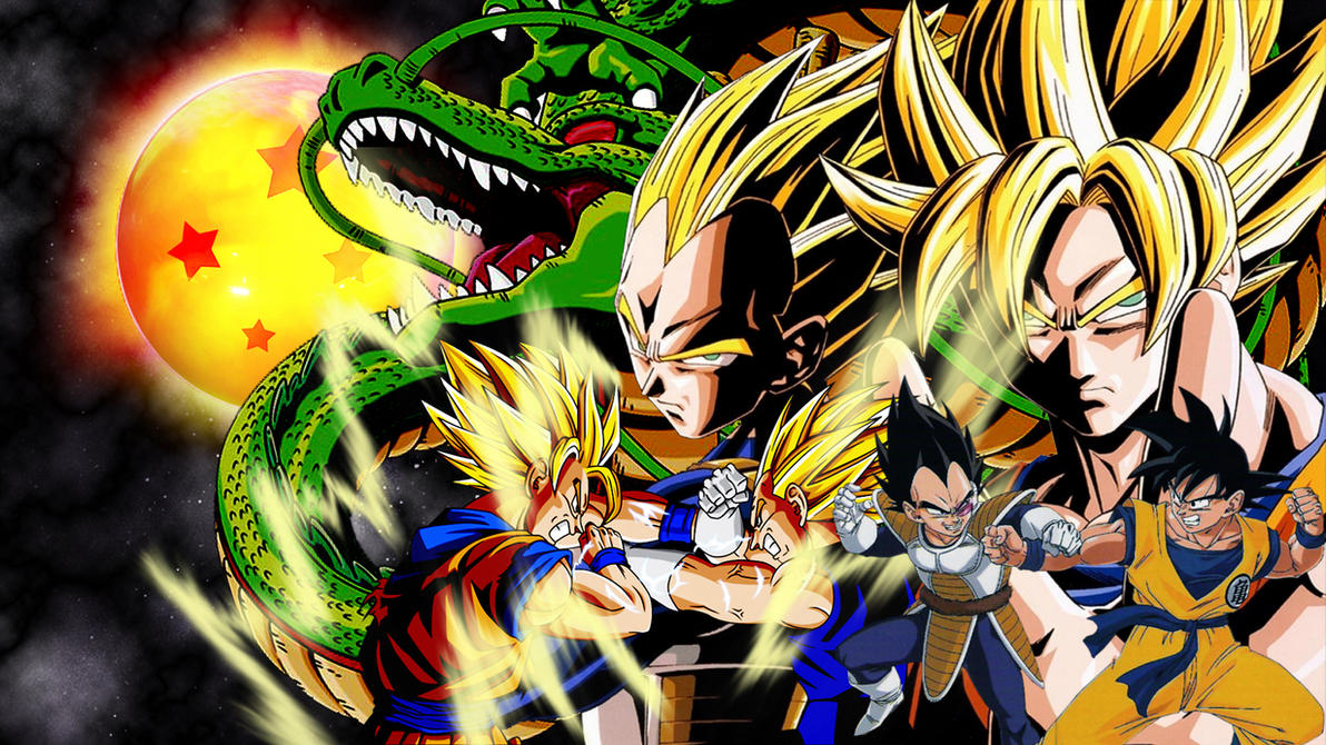 goku vs vegeta wallpapervulc4no on deviantart