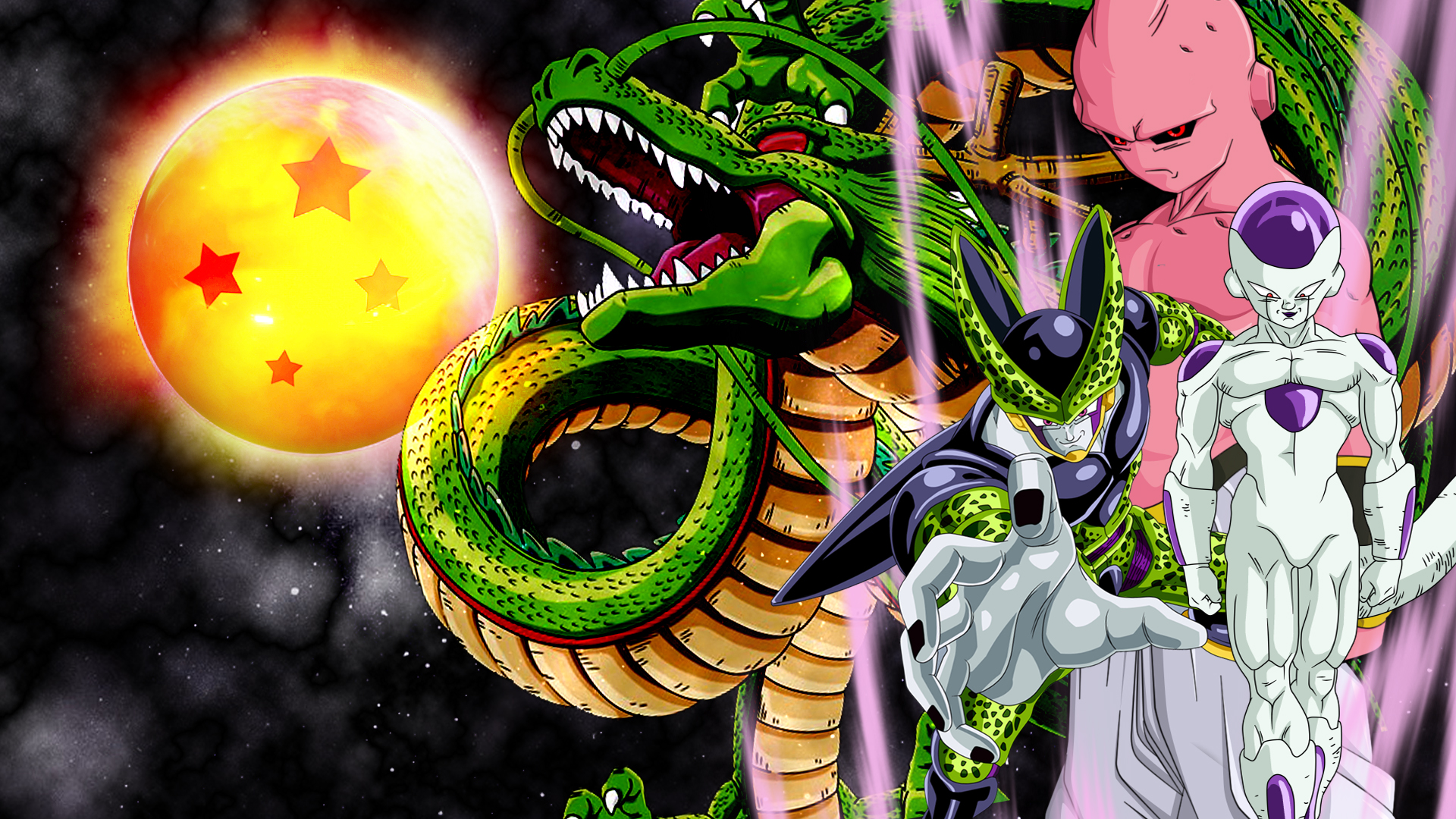 frieza cell and buu wallpaper by vulc4no on deviantart