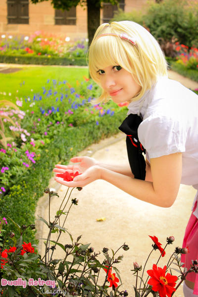 AnE: Shiemi in the graden by Fuwamii
