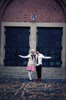 AnE: Rin and Shiemi by Fuwamii