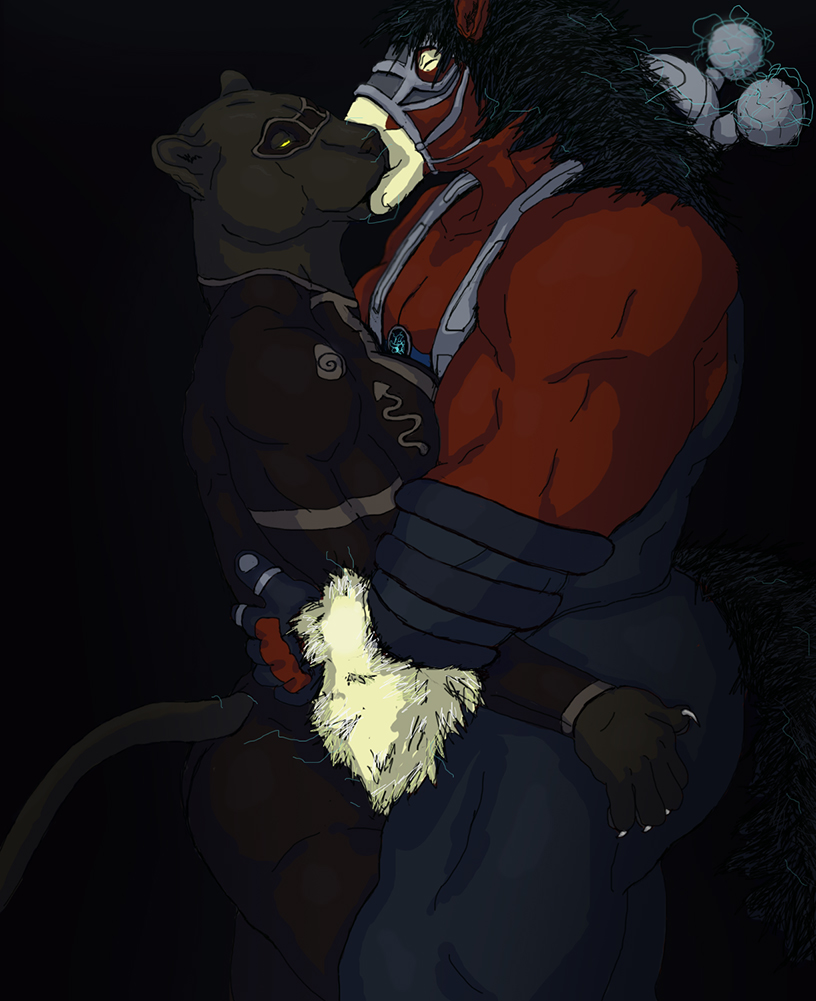 Power Hoss and NightVision kiss