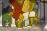 Ballad the Greek, gryphon and human fantasy pic