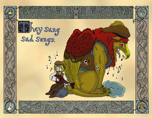 Gryphon illustration, They Sang Sad Songs