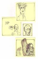 Post-It Peeps 10 by qrowdad