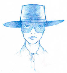 Audrey as Amalie as Zorro by qrowdad