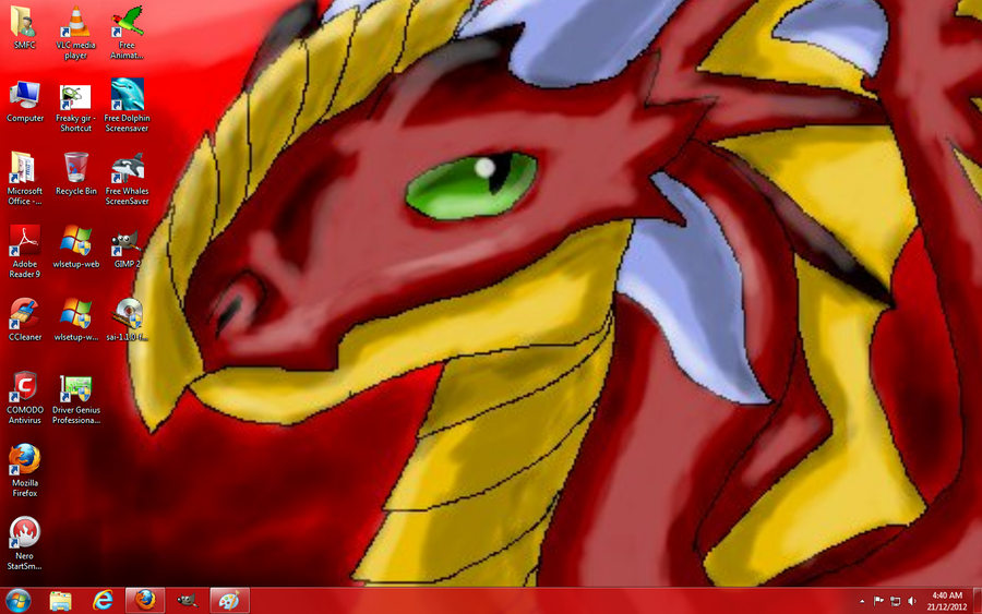 Me art is now my desktop wallpaper 8D by Koala-Sam