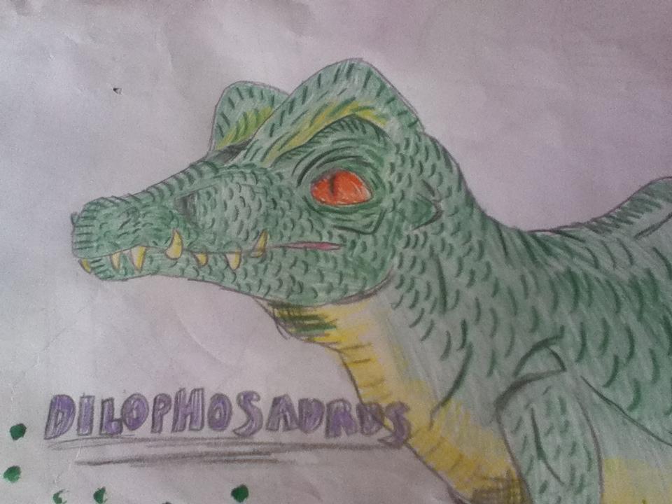 Dilophosaurus Drawing Random dilophosaurus drawingDilophosaurus Drawing