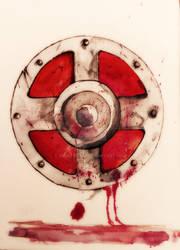 Shield of He-Man watercolor by Shiru Deku