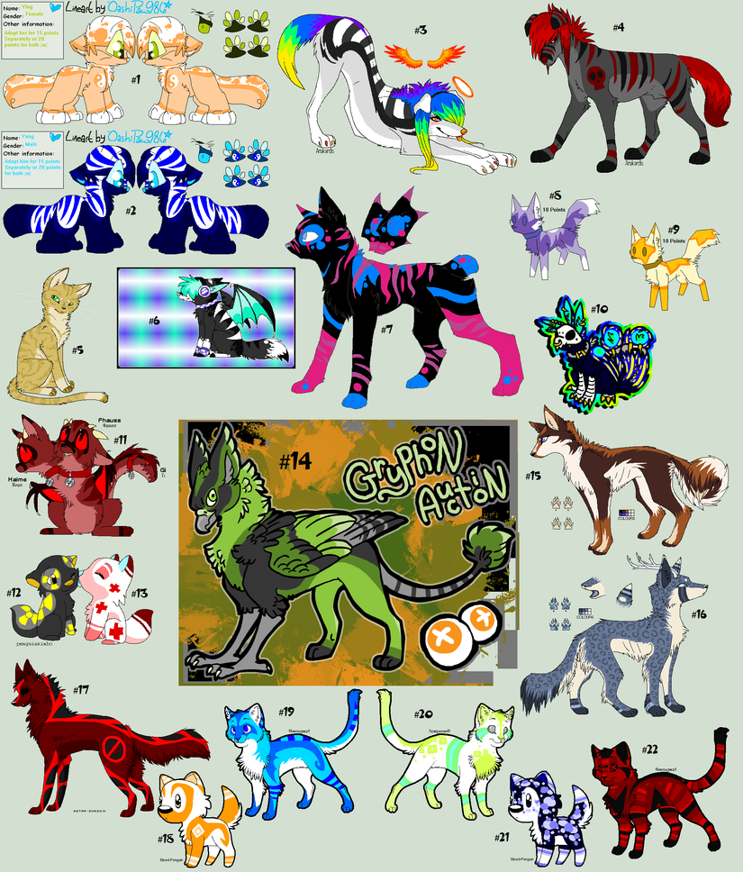 .:HUGE Point Adoptable Batch - OPEN:. by virulentVirus