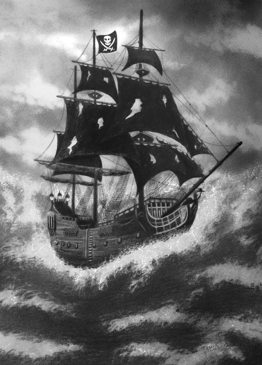 Black Pearl Pirate Ship Drawing - The Black Pearl Images ...