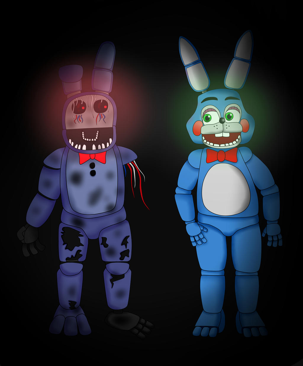 five nights at freddy's bonnie and toy bonnie by ...