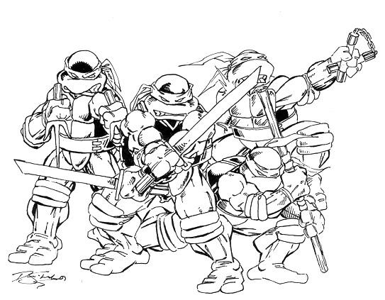 Line Art Ninja Turtles : Teenage mutant ninja turtles by y dane on deviantart