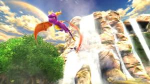 Cynder and Spyro Flying