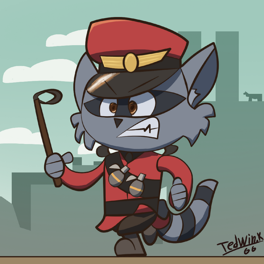 soldier_the_raccoon_by_tedwin_knockman66