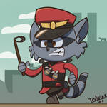 Soldier the Raccoon by Tedwin-Knockman66