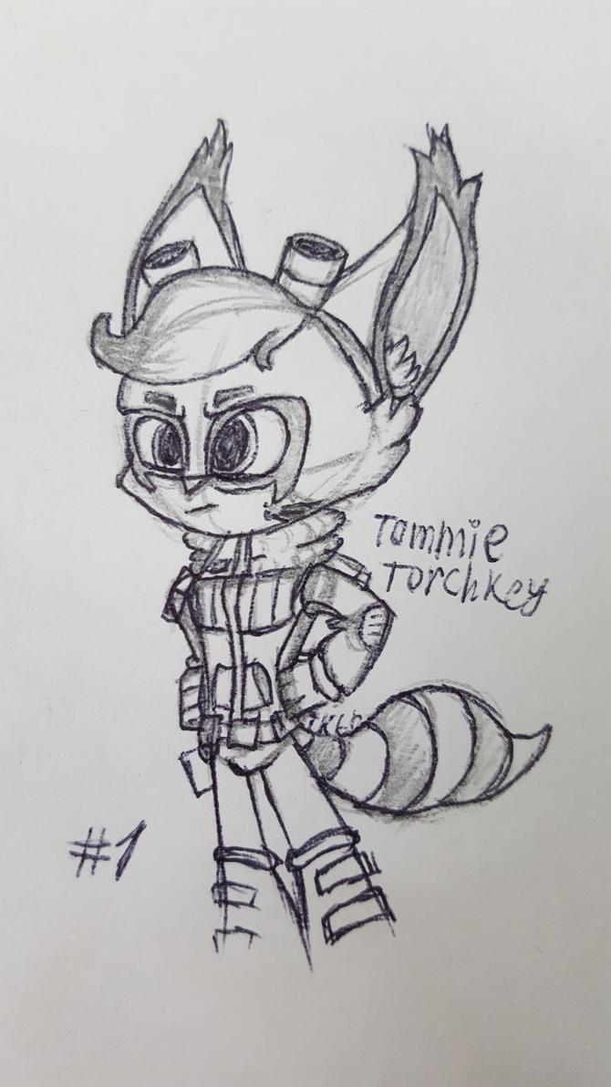 Inktober 1 Tommie Torchkey by Tedwin-Knockman66