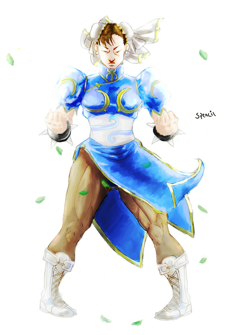 Chun-li : I AM STREET FIGHTER by T-Spencil