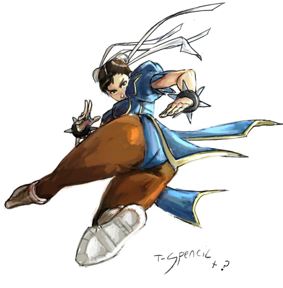 Chun-li kick1 by T-Spencil