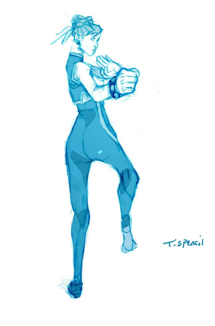 142#chun-li by T-Spencil