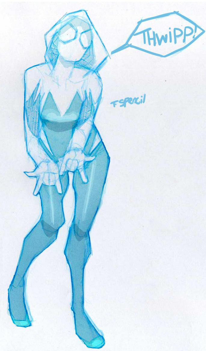 #1238~Spider Gwen Fin by T-Spencil