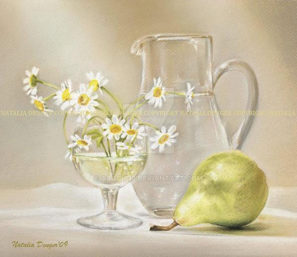 Pear and Daises... by Acacia13