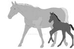 Mare and Foal adopts base 30 pts