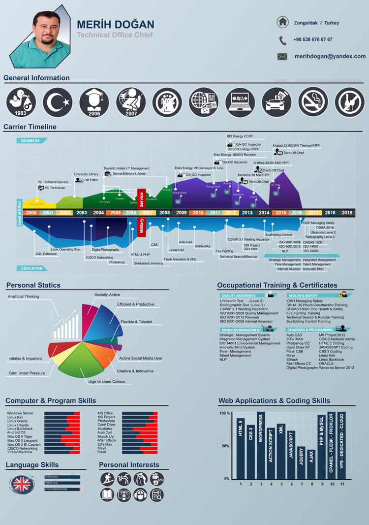 merih dogan infographic cv by merihdogan on deviantart