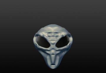 'Grey' Alien Head