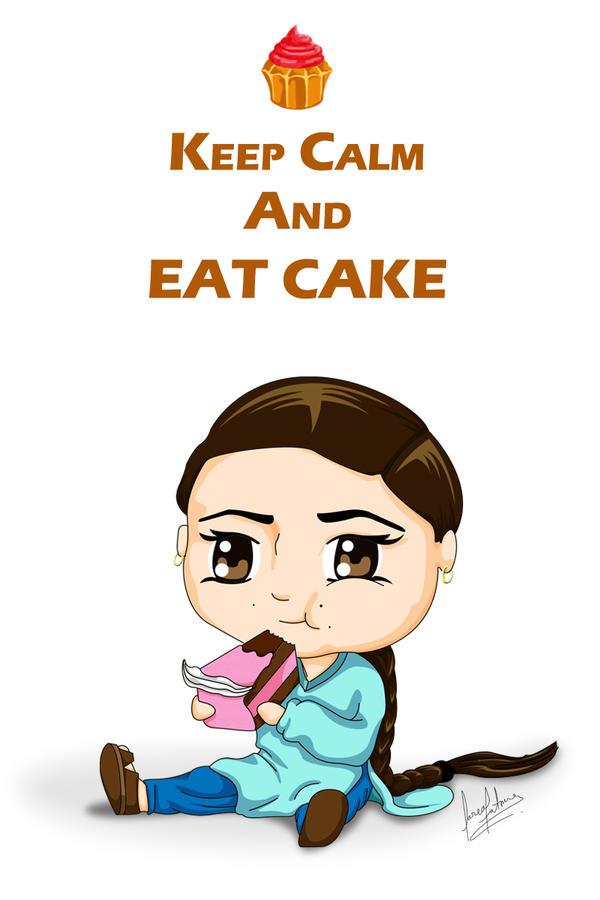Chibi Girl eating cake by KatanaKaido on DeviantArt