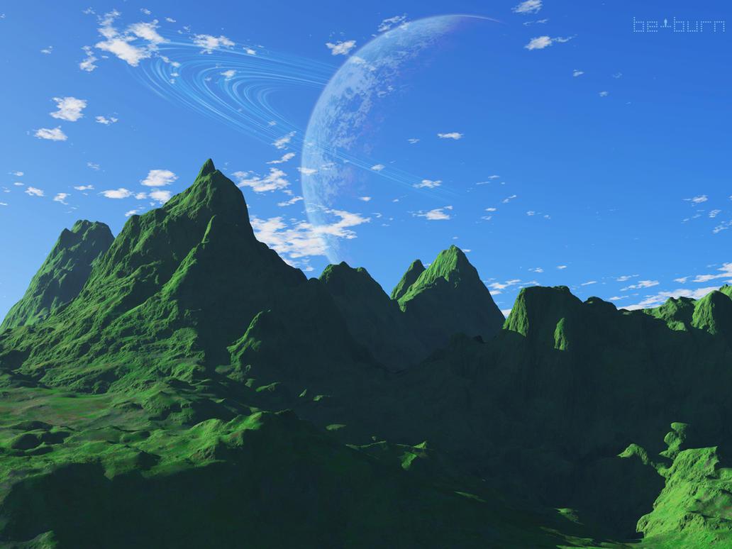 Oreios over Mount Othrys by BeBurn