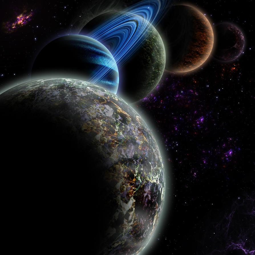 My strange solar system by BeBurn