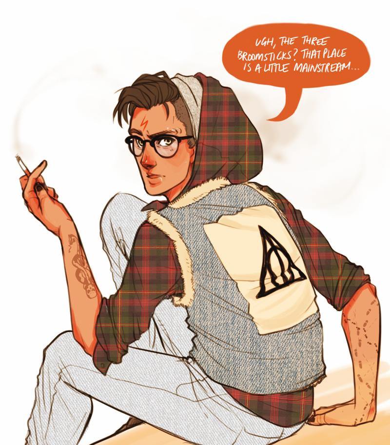 Hipster Harry by batcii