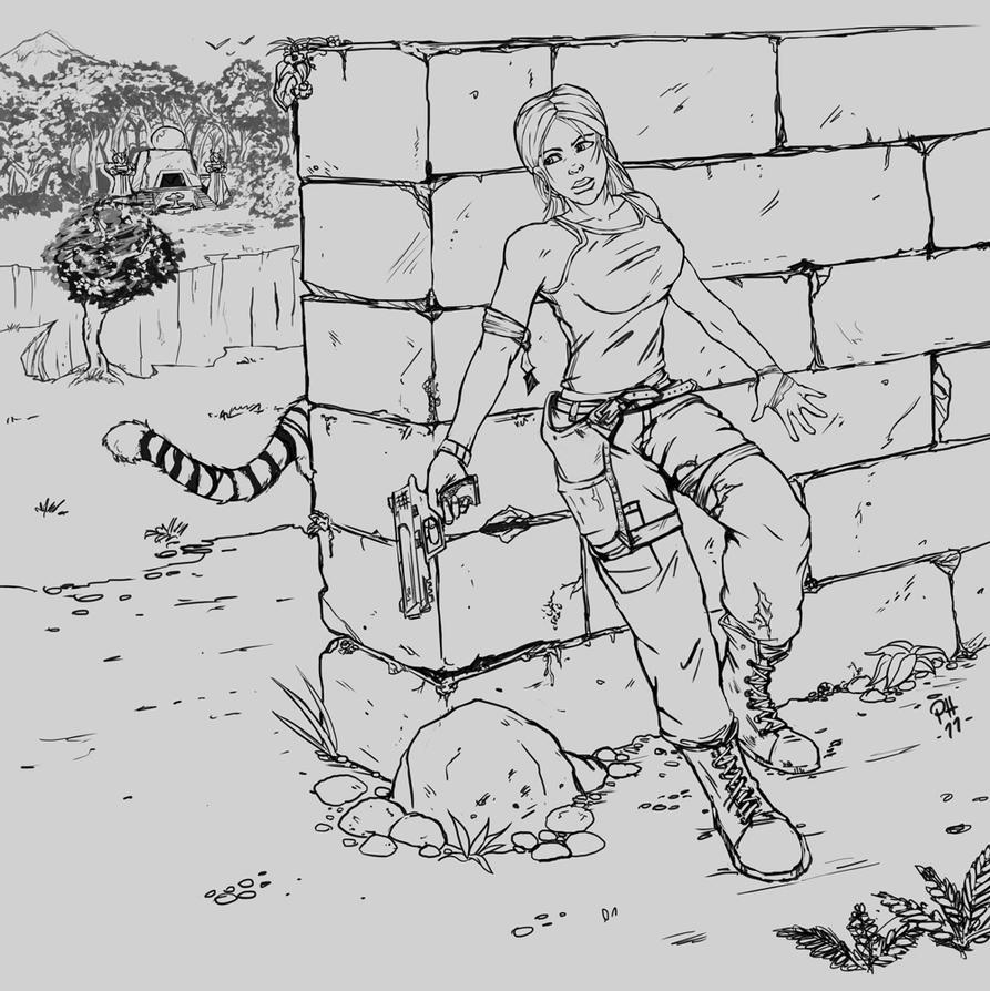 Lara Croft by siksix