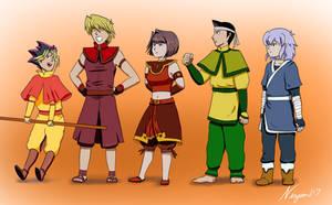 Yugioh Avatar Au - Friendship Squad by Ninjam117